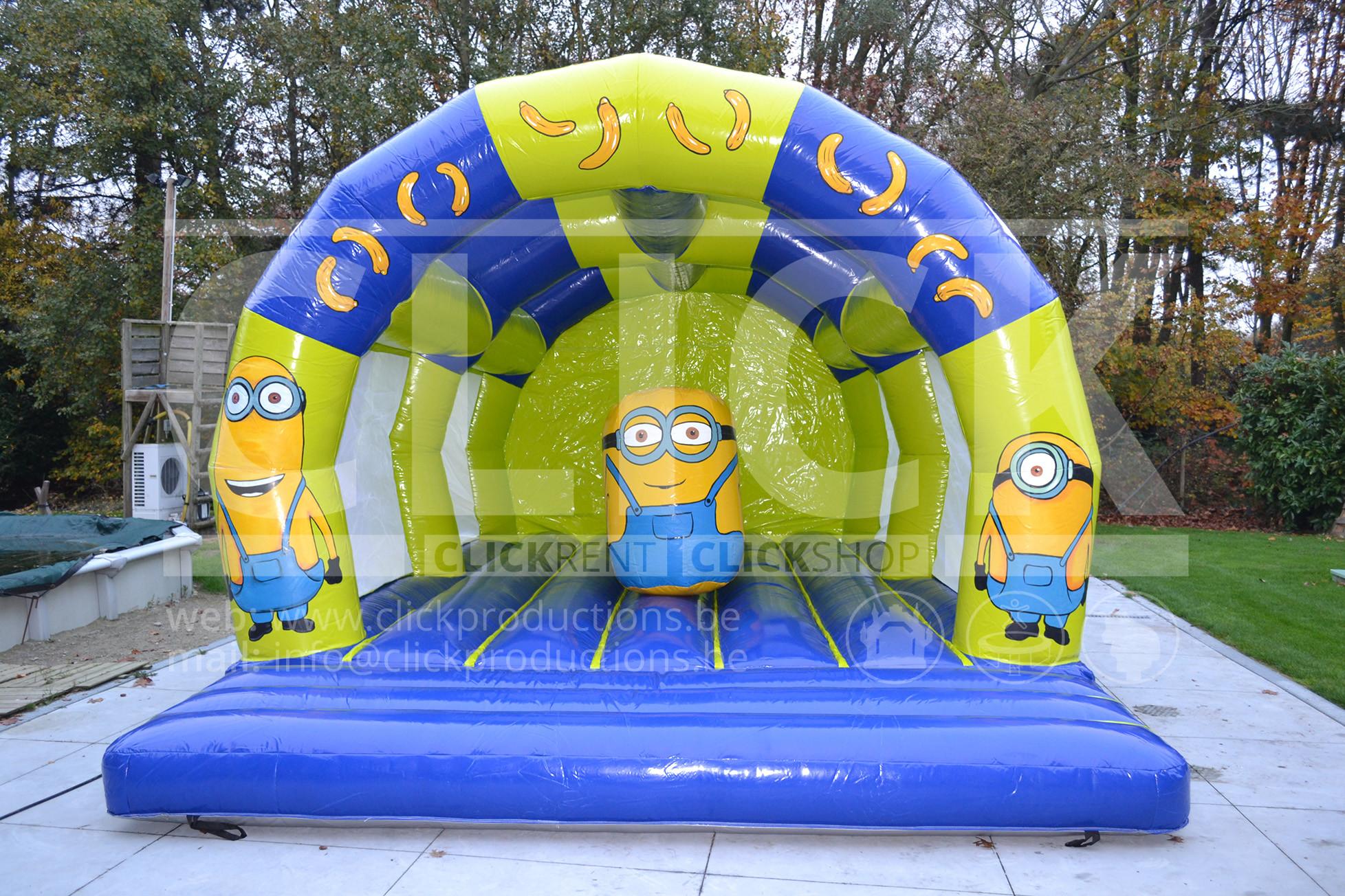Springkasteel Minions Obstakels huren  u2022 Click Rent