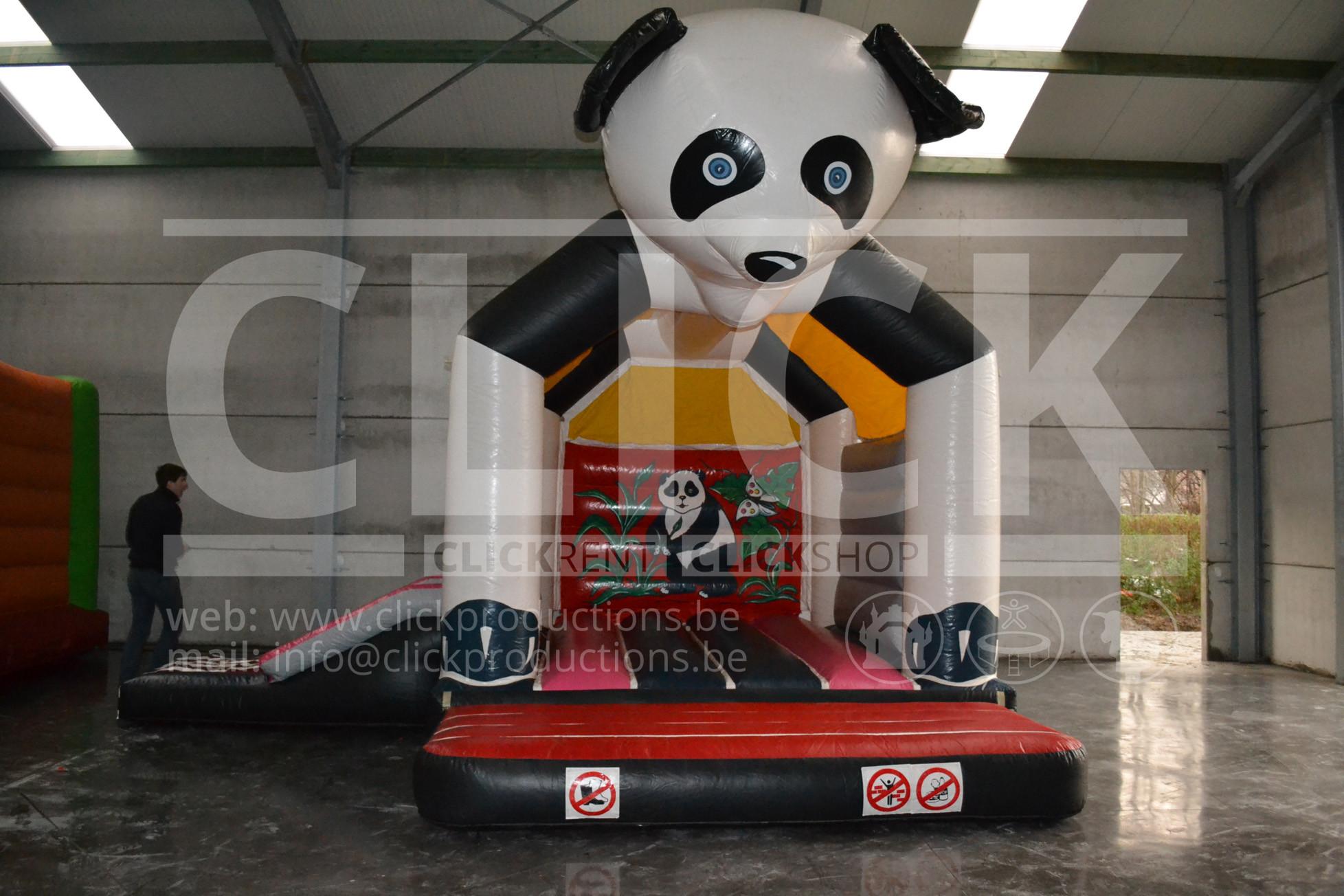 springkasteel panda klein huren click rent. Black Bedroom Furniture Sets. Home Design Ideas