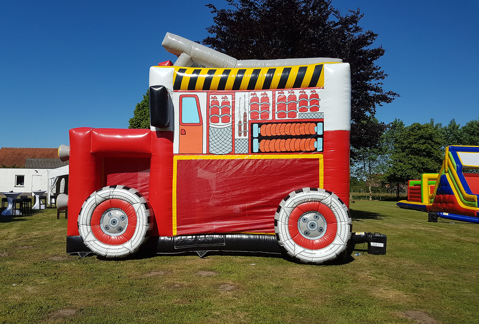Springkasteel Brandweerwagen